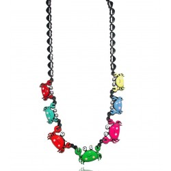 Lol bijoux - Collier Crabes - Multiocolore