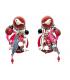 Lol Bijoux  - Boucles d'Oreilles Clips - Printanières - Coccinelle - Rouge