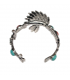 Lol Bijoux - Bracelet Coiffe d'Indien - Native - Hippie Chic - Rouge Bleu