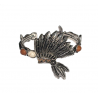 Lol Bijoux - Bracelet Coiffe d'Indien - Native - Hippie Chic -Marron Beige
