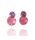 Ikita - Boucles d'Oreilles Duo - Rose Parme