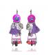 Lol Bijoux - Boucles d'Oreilles Lucinda  - Etoile Brillante - Rose & Parme