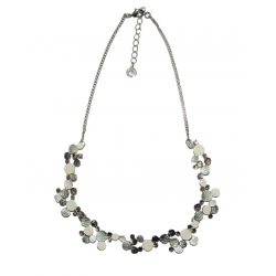 Ikita - Collier Pastilles - Blanc - Argent