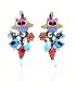 Lol Bijoux - Boucles d'Oreilles Chouettes - Fleur - Multicolore