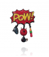 Lol bijoux - Broche Pop Art - Pow - Chat Rouge