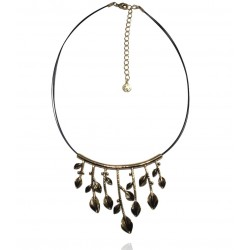 Ikita - Collier Diane - Branche Feuillue - Or