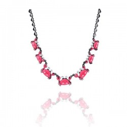 Lol bijoux - Collier Crabes - Rose Fuchsia