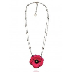 Lol Bijoux - Collier Coquelicot Royal - Fleur Rose Hollywood
