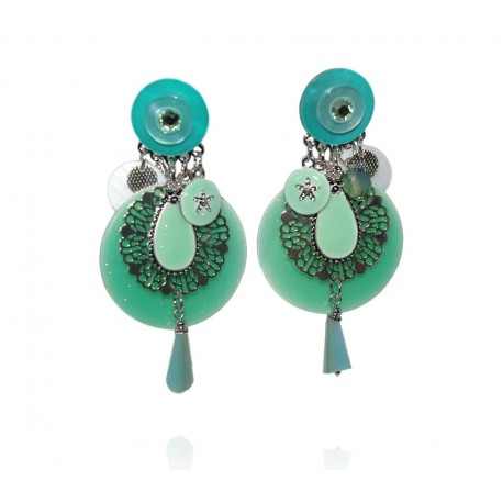 Ikita - Boucles d'oreilles Clips - Ornella - Menthe
