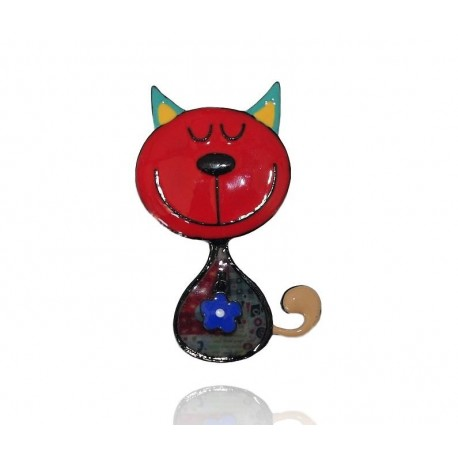 Lol bijoux - Broche Chat Rouge