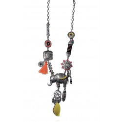 Lol Bijoux - Collier Elephant - Jaune - Bollywood