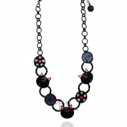 Lol Bijoux - Collier Chat - Noir Carbone