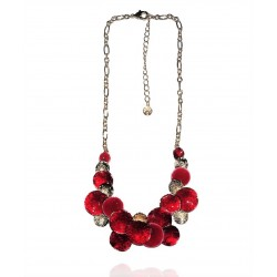 Ikita - Collier Pastilles rondes - Rouge et Or