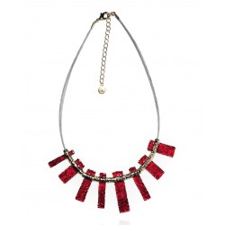 Ikita - Collier Artemis - Vitrail - Rectangles Rouges