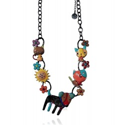 Lol Bijoux - Collier Chien  Patchy - Multicolore