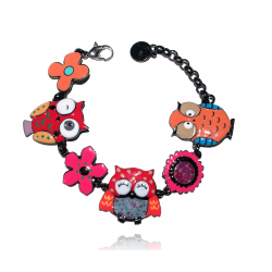 Lol Bijoux - Bracelet Chouettes - Orange - Rouge - Lolilota