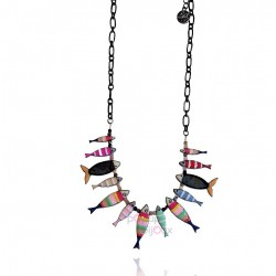 Lol bijoux - Collier sardines - Multicolore