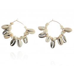 Mila and Stories - Boucles d'oreilles Coquillage - Naturel