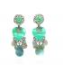Ikita - Boucles d'Oreilles - Plumes et Pampilles - Parme - Turquoise