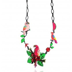 Lol Bijoux - Collier Perroquet Rose - Tropical