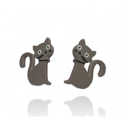 Belle Miss - Boucles d'Oreilles Chat - Mistigri