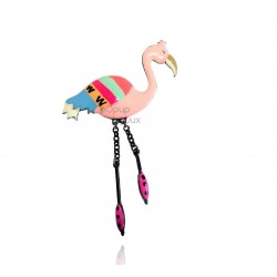 Lol Bijoux - Broche Flamant Rose - Turquoise - Tropical