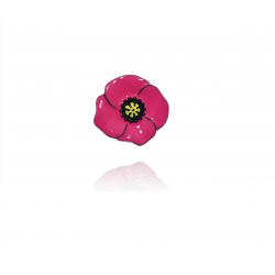 Lol bijoux - Broche Coquelicot - Rose Hollywood