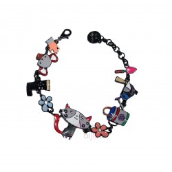 Lol Bijoux - Bracelet Chat et Poisson - Or Brillant