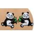 boucles d'oreilles au pays des pandas lol bijoux